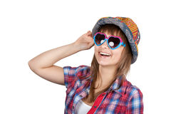 Beautiful girl in sunglasseses Royalty Free Stock Image