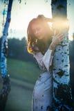 Beautiful girl at sunset by  birch Stock Photos