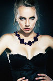 Beautiful Girl Supermodel With Necklace Posing Stock Image