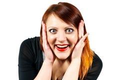 Beautiful girl surprised Stock Image