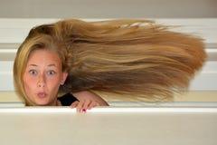 Beautiful girl surprised portrait Stock Photos