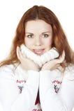 Beautiful girl in a sweater Stock Image
