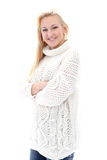 Beautiful girl with sweater have really wide smile Stock Photography