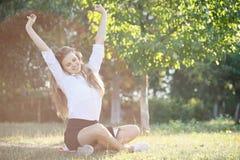 Beautiful girl sweet stretching Stock Photos