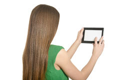 Beautiful girl with tablet pc Stock Photography