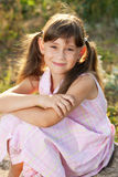 Beautiful girl with tails Royalty Free Stock Image