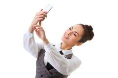 Beautiful girl taking selfie Royalty Free Stock Images