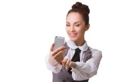 Beautiful girl taking selfie Stock Photos