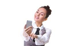 Beautiful girl taking selfie Royalty Free Stock Image