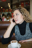 Beautiful girl talking on a cell phone Stock Photo