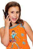 Beautiful girl talking on the phone Royalty Free Stock Images