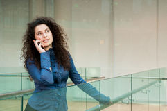 Beautiful girl talking on the phone Royalty Free Stock Photo