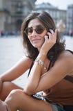 Beautiful girl talking on the phone Royalty Free Stock Photo