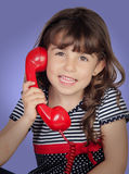 Beautiful girl talking on phone Royalty Free Stock Photography