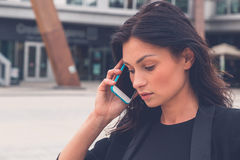 Beautiful girl talking on phone Royalty Free Stock Photo