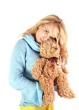 Beautiful girl with teddy bear Royalty Free Stock Photos