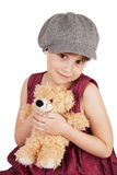 Beautiful girl with a teddy bear Royalty Free Stock Images