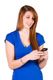 Beautiful Girl Texting Stock Photos