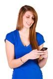 Beautiful Girl Texting Stock Photos