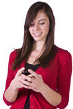 Beautiful Girl Texting Royalty Free Stock Images