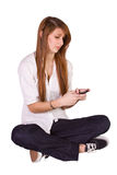 Beautiful Girl Texting Stock Images