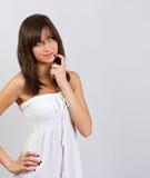 Beautiful girl thinking Stock Images