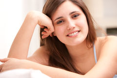 Beautiful girl thinking about love Royalty Free Stock Photos
