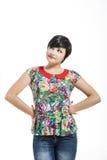 Beautiful girl thinking Stock Photography