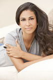 Beautiful Girl Thoughtful Young Hispanic Woman Royalty Free Stock Image
