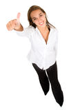 Beautiful girl thumbs up Stock Images