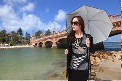 Beautiful girl tourist at Alexandria - Egypt Royalty Free Stock Photo