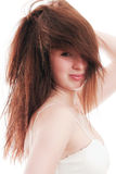The beautiful girl with the tousled hair Royalty Free Stock Photo