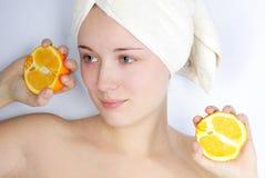 Beautiful girl in towel Royalty Free Stock Photo