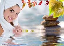 Beautiful girl with towel Royalty Free Stock Photo