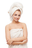 Beautiful girl in towel Stock Photos