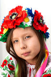 Beautiful girl with traditional costume of Ukraine Stock Images