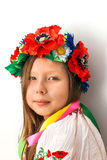 Beautiful girl with traditional costume of Ukraine Royalty Free Stock Images