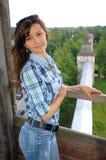 Beautiful girl travel in Rostov Royalty Free Stock Photo