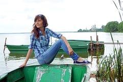 Beautiful girl travel in Rostov Royalty Free Stock Image