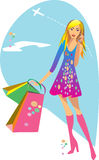 Girl is shopping Stock Images