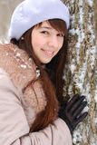 Beautiful girl in a tree Stock Image