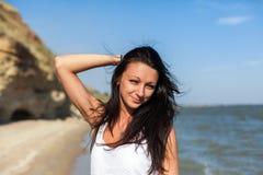 Beautiful Girl in Tropical Resort Stock Photo