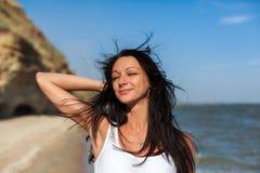 Beautiful Girl in Tropical Resort Stock Images