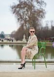 Beautiful girl in Tuileries garden Stock Photography