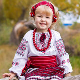 Beautiful girl in ukrainian costume Stock Image