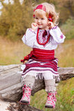 Beautiful girl in ukrainian costume Stock Photography
