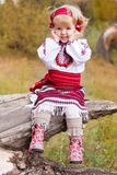 Beautiful girl in ukrainian costume Stock Photos
