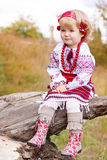 Beautiful girl in ukrainian costume Royalty Free Stock Photos