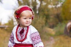 Beautiful girl in ukrainian costume Stock Image