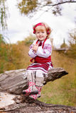 Beautiful girl in ukrainian costume Royalty Free Stock Image